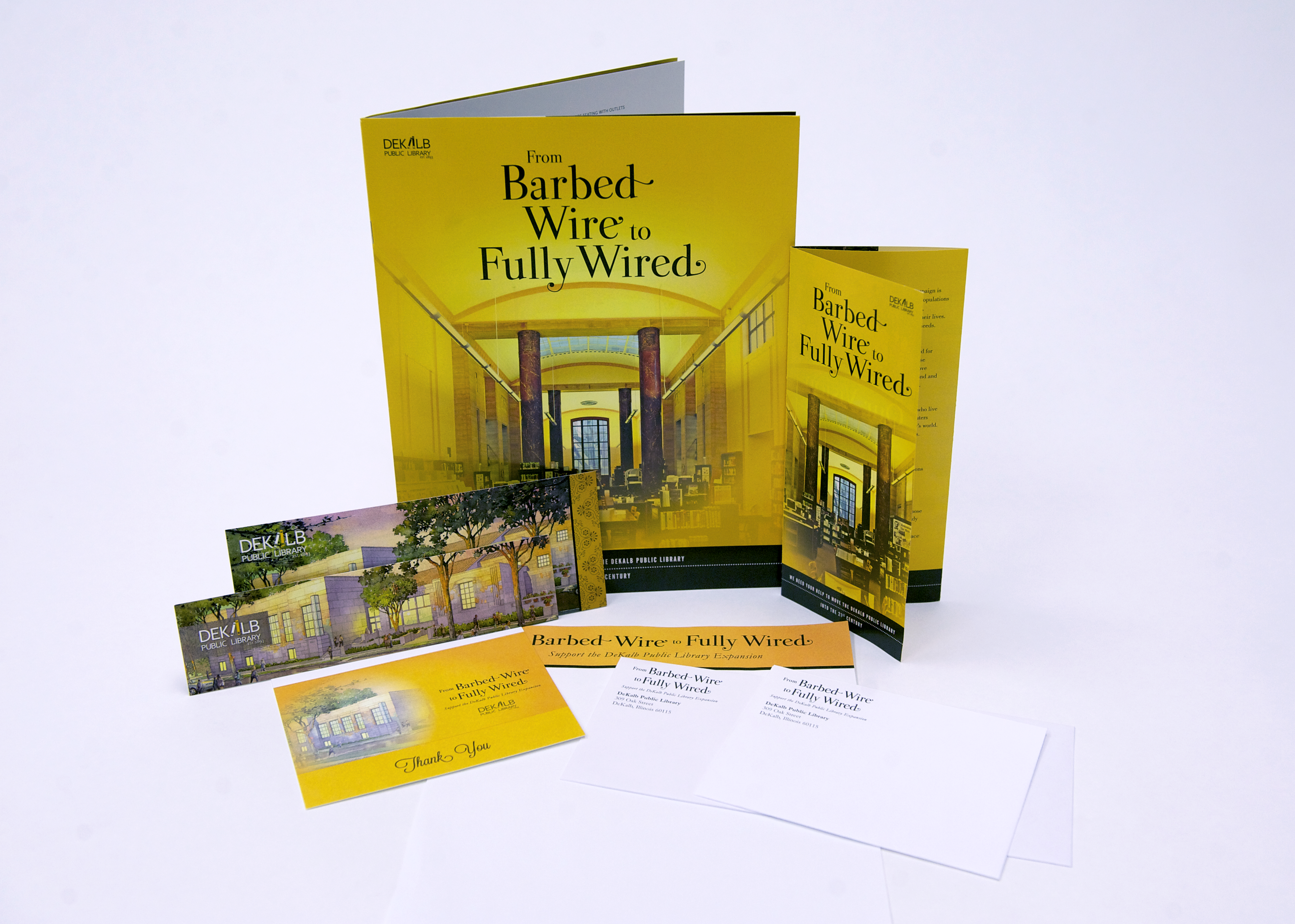 Full booklet design and letters